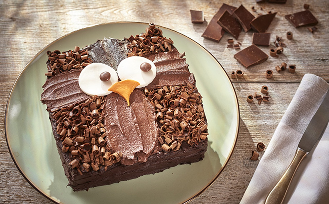Owl Birthday Cake