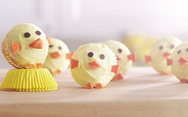 recipe image Easter Chick Cupcakes