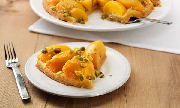 recipe image Upside-Down Peach Tart