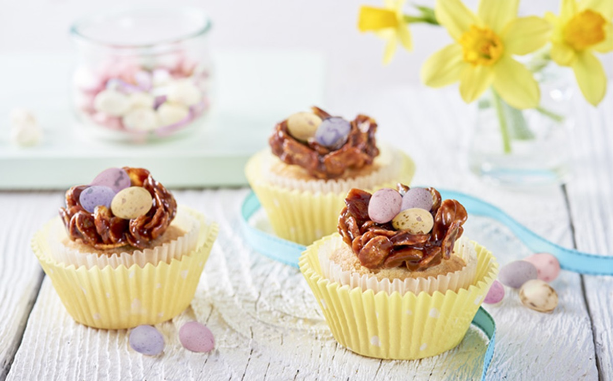 recipe image Easter Nest Cupcakes