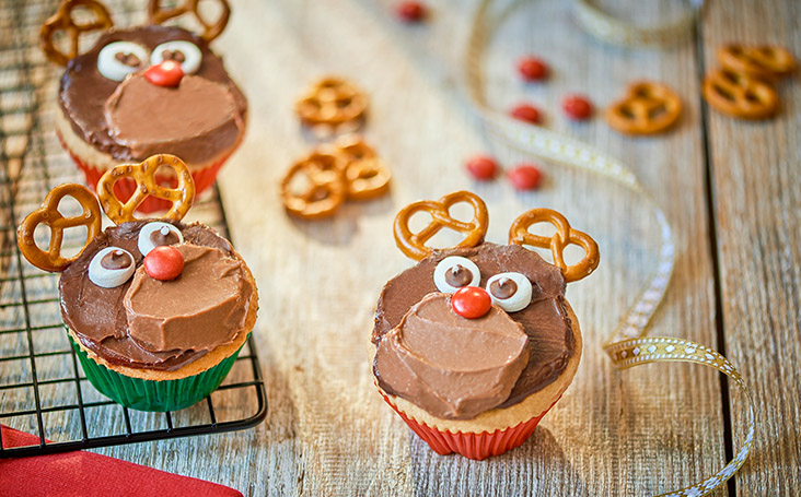 recipe image Chocolate Rudolph Cupcakes