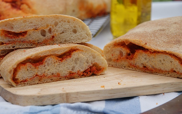 recipe image Red Pepper Swirl Ciabatta