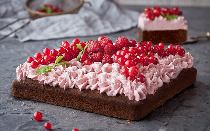 recipe image Chocolate Cake with Raspberries and Red Currant