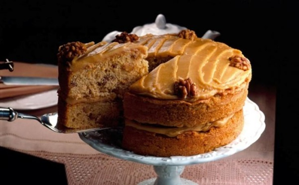 recipe image Gluten Free Coffee and Walnut Cake