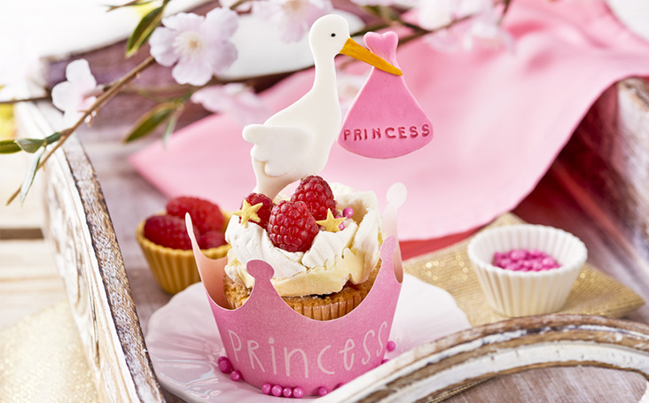 recipe image It's a Girl Raspberry & White Chocolate Cupcakes