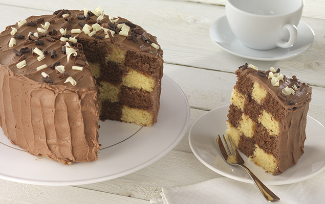recipe image Chocolate Chequer Cake