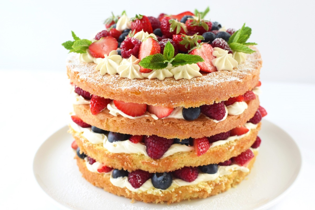 recipe image Summer Fruit Celebration Cake