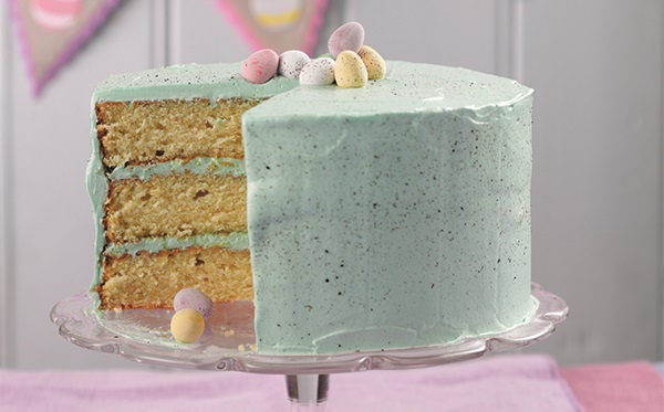recipe image Easter Speckled Egg Cake