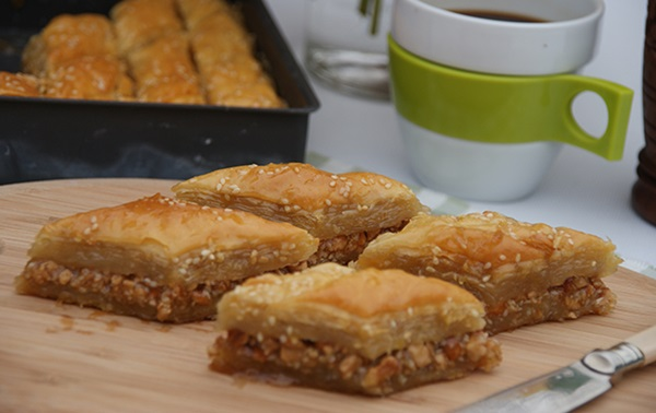 recipe image Honey Roast Cashew & Sesame Baklava