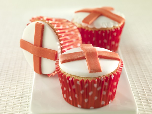 recipe image Come on England! World Cupcakes