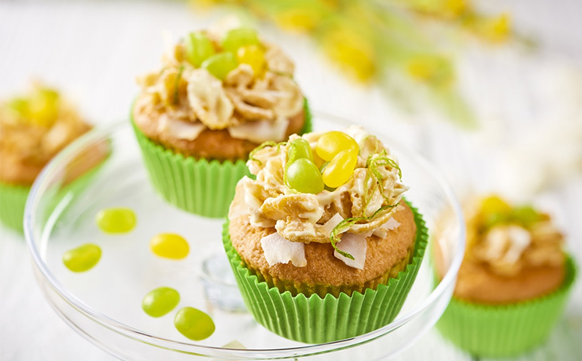 recipe image Easter Nest Coconut & Lime Cupcakes