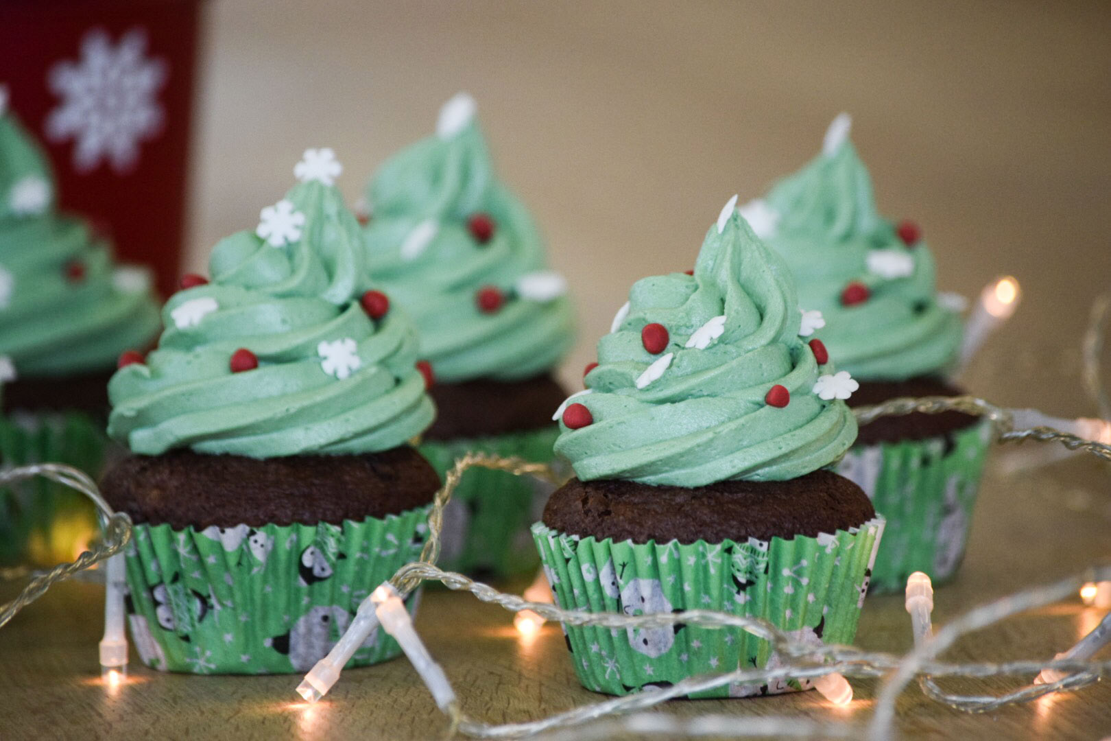recipe image Christmas Tree Cupcakes
