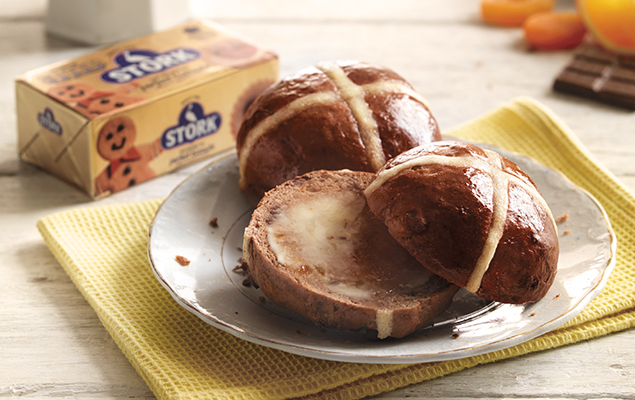 recipe image Chocolate and Orange Hot Cross Buns