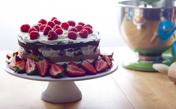 recipe image Chocolate Layer Cake with Fruits