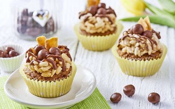 recipe image Easter Nest Sticky Toffee Cupcakes