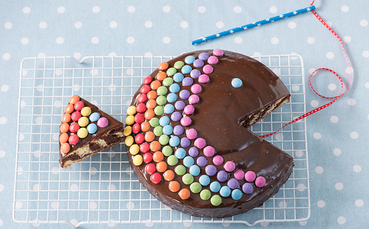 recipe image Rainbow Fish Zebra Cake