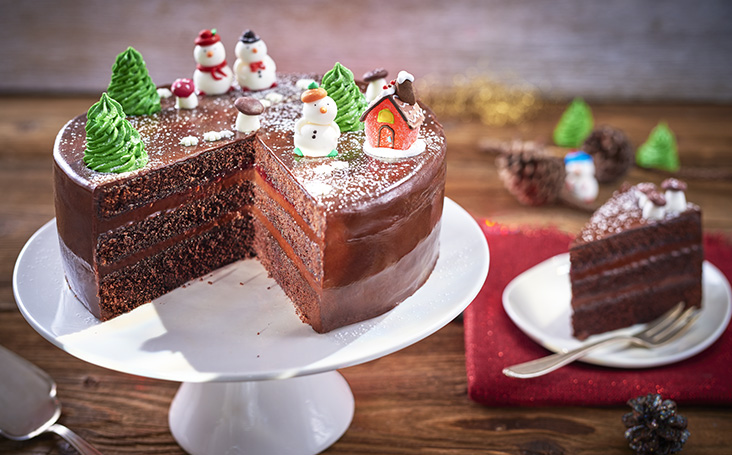 recipe image Chocolate Christmas Cake