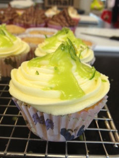 recipe image Coconut and Lime Kiwi Cupcakes