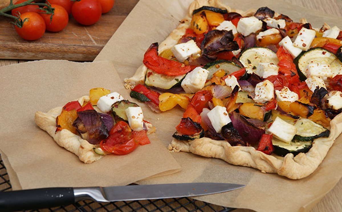 recipe image Mediterranean Vegetable and Feta Tart