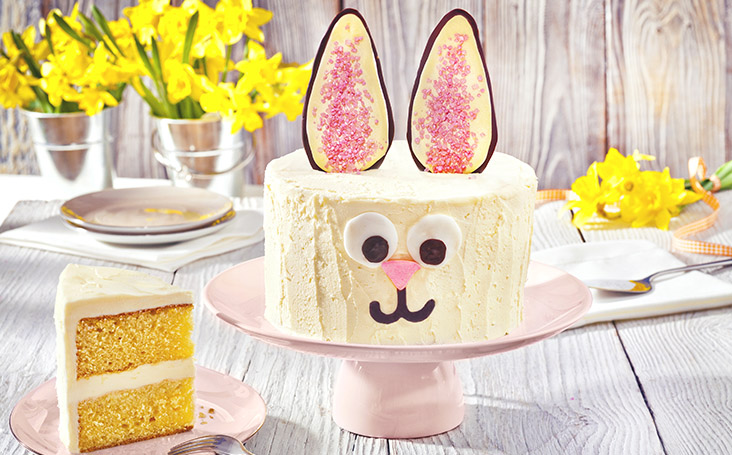 recipe image Gluten Free Easter Bunny Cake