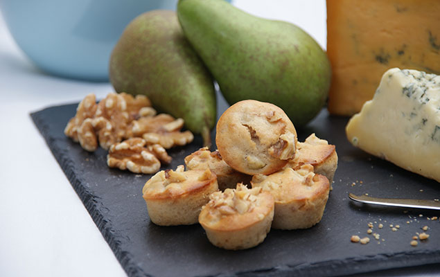 recipe image Pear and Walnut Mini Muffins