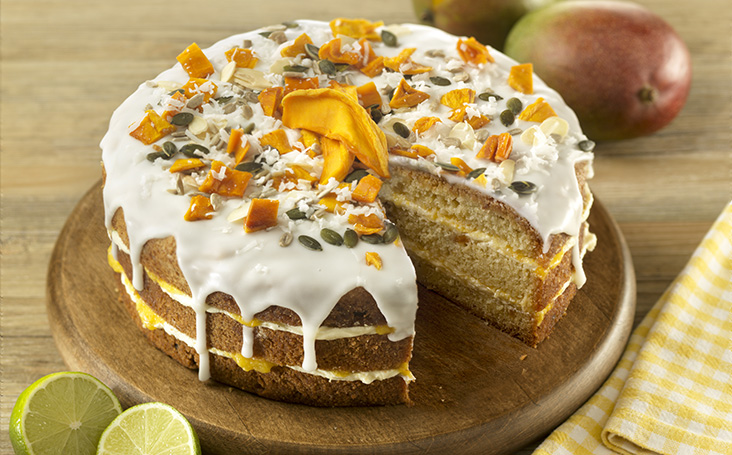 recipe image Coconut, Mango and Lime Cake