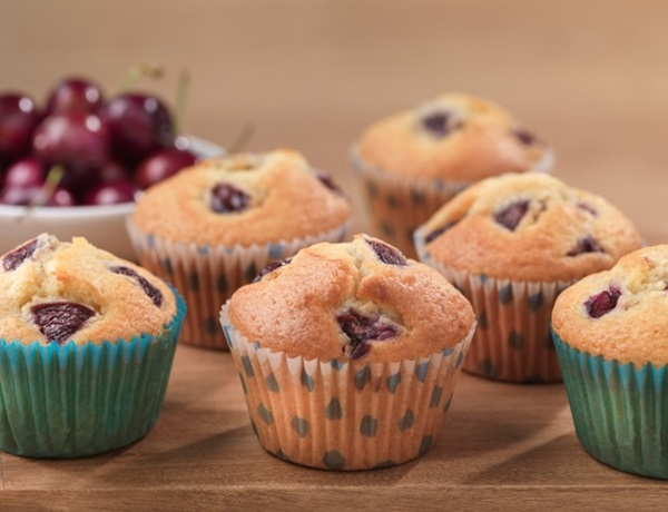 recipe image Cherry and Almond Muffins
